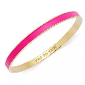 Kate Spade Bangle - Gold & Hot Pink - Hot to Trot